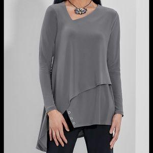 Gray Sympli Charm Angle Tunic
